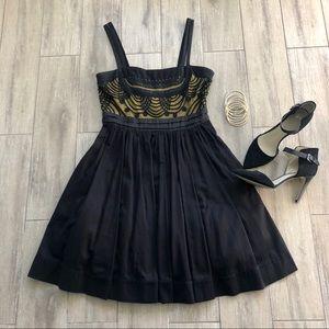 Anthropologie Floreat Cloaked Vista Dress LBD